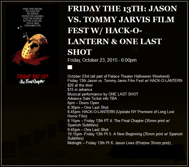 Watch Jason vs Jarvis On 35MM This Halloween! - Friday The 13th ...
