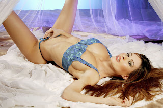 natasha mealey looking very hot and sexy in blue lingerie   hot sexy