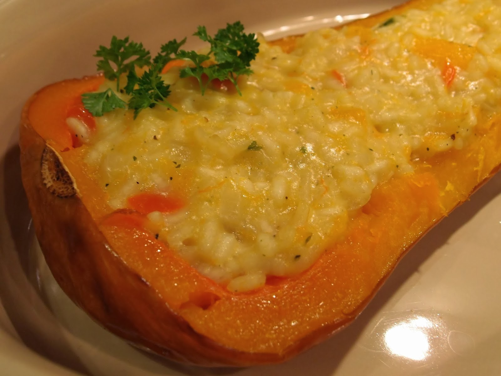 the veghog roasted coquina squash stuffed with risotto