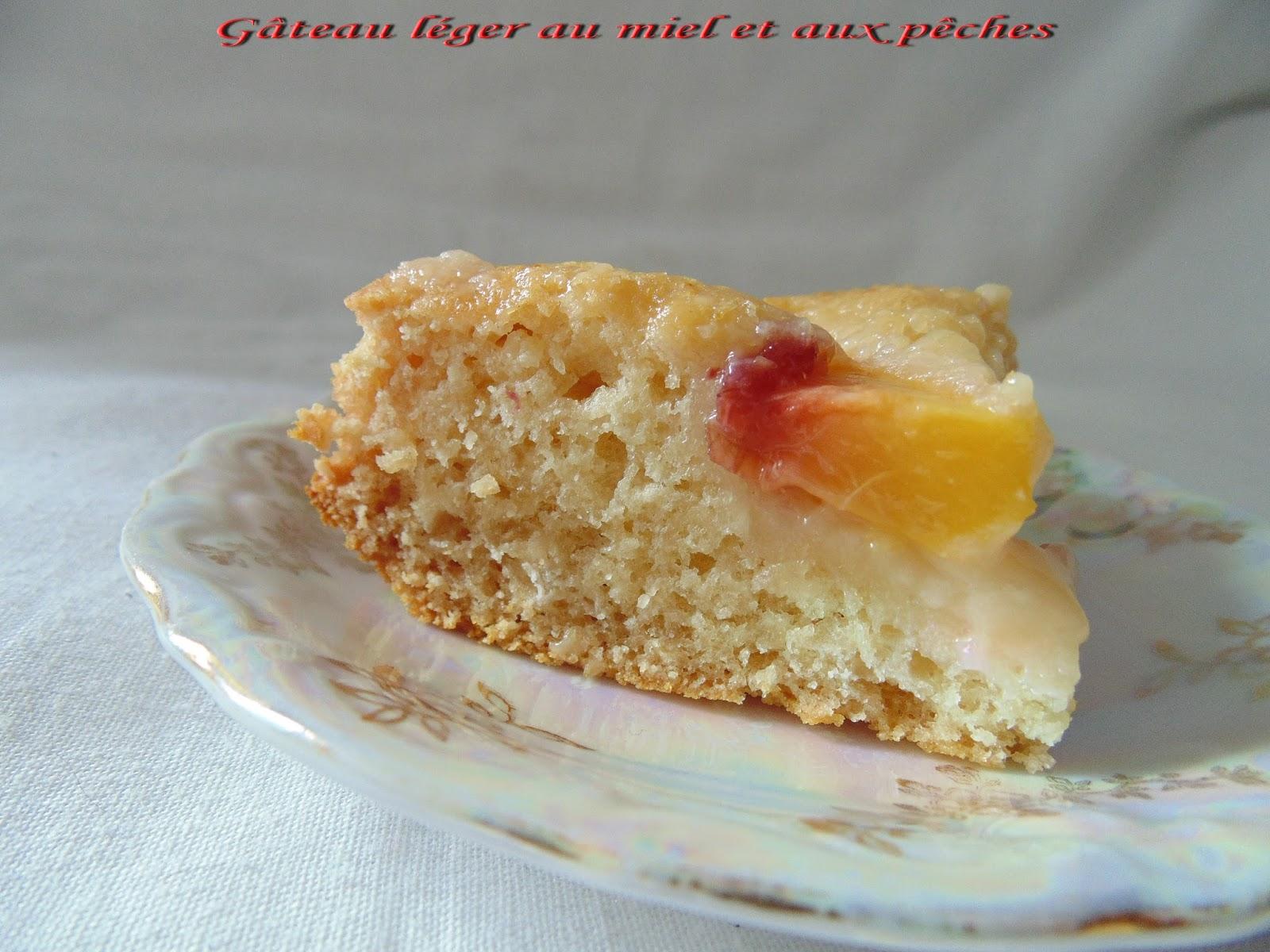 Gateau Gaga Love Cakes Gateau Léger Au Miel Et Aux Pêches Sans Oeuf