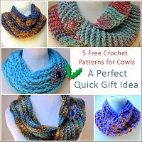 Round up of free crochet cowl patterns Sunday Night Link Blast ~A Mix Of Fun Crochet Patterns http://www.niftynnifer.com/2014/12/sunday-night-link-blast-mix-of-fun.html #LinkBlast #Crochet #CrochetRoundUp