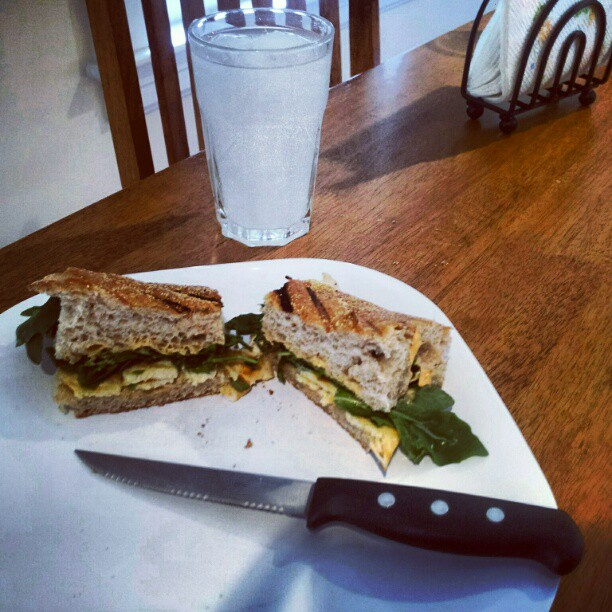 ... Food: Chicken Panini with Arugula, Provolone, and Chipolte Mayonnaise