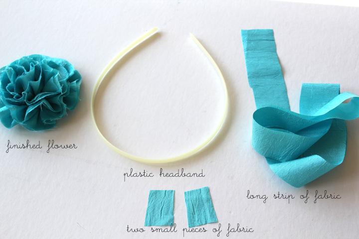 Цветы для из ткани для ободков своими руками