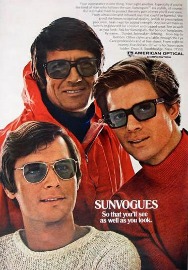 1960s sunglasses advert