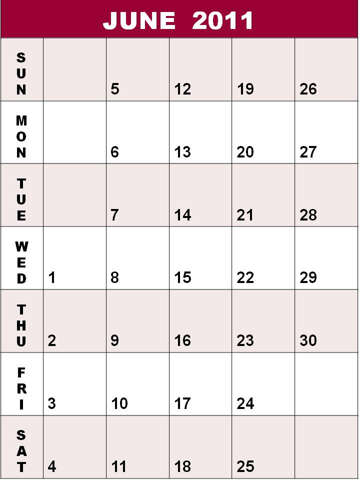 blank june 2011 calendar. june calendar 2011. lank june