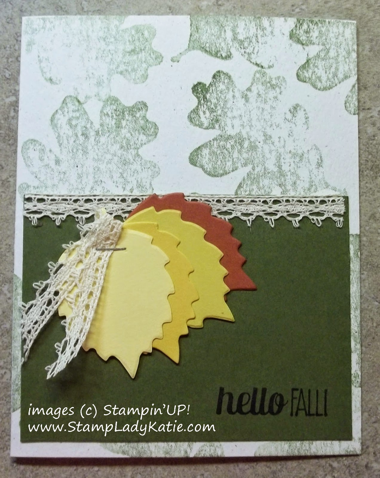 Card made with Stampin'UP! Autumn Accents die & For All Things Stamp Set