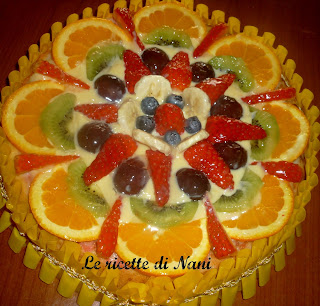 torta margherita con la frutta