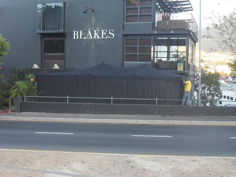 Black 11m x 5m Stretch Tent Installaion