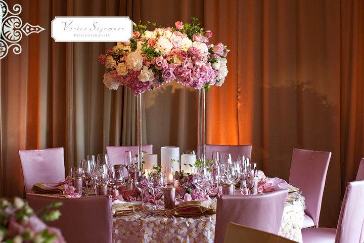 How cute is this pink and gold wedding depicted in Victor Sizemore 39s wedding