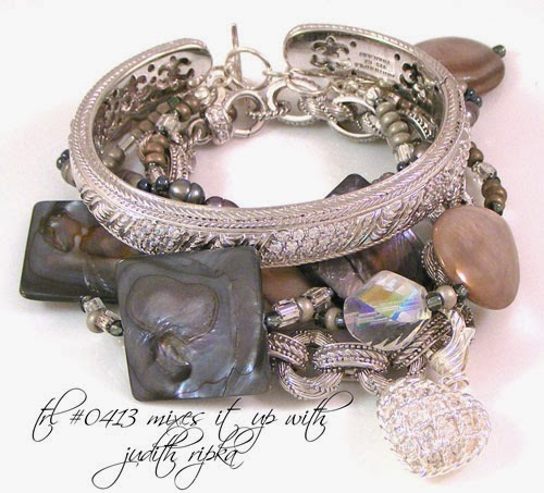 Tanya Lochridge Jewelry Grey Mother-of-Pearl & Freshwater Pearl Sterling Silver Bracelet
