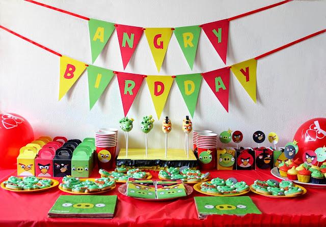 Decoracion Italiana Para Fiestas ~ Fiesta de Angry Birds