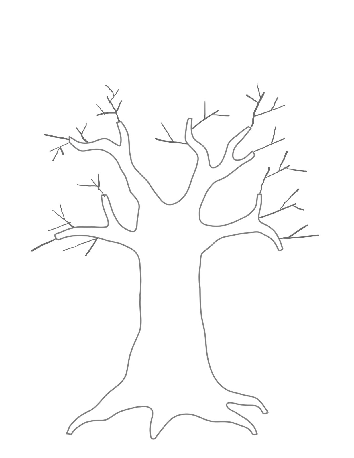 Modest image intended for printable tree template