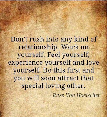 Don't rush into any kind of relationship. work on yourself. feel yourself, experience yourself and love yourself.  Do this first and you will soon attract that special loving other.