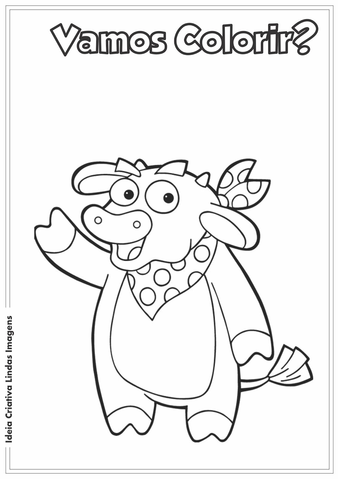 Desenho pra colorir - Dora a Aventureira