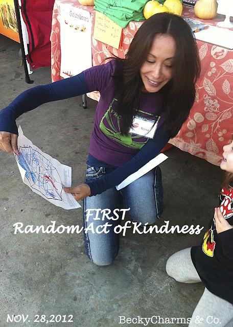 Tiny Baker's First Public Random Act of Kindness by BeckyCharms, san diego, public market, farmer's market, kindness, love, children, beckycharms