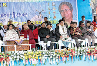 CM Mamata Harka Bahadur Chhetri at foundation day celebration of Sherpa Cultural Board in Darjeeling