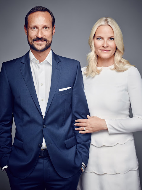 New photos of the Crown Prince Haakon and Crown Princess Mette-Marit of Norway.