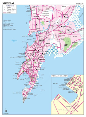 Map of Mumbai aka Bombay