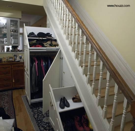 Aprovechamiento de espacio bajo escalera interior