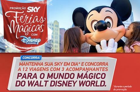 Concorrer Viagem para Disney promoção Sky 2015