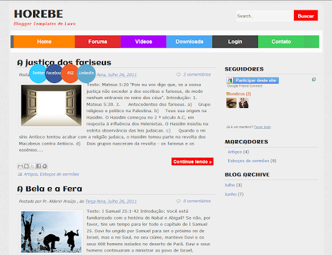 Horebe Blogger Theme