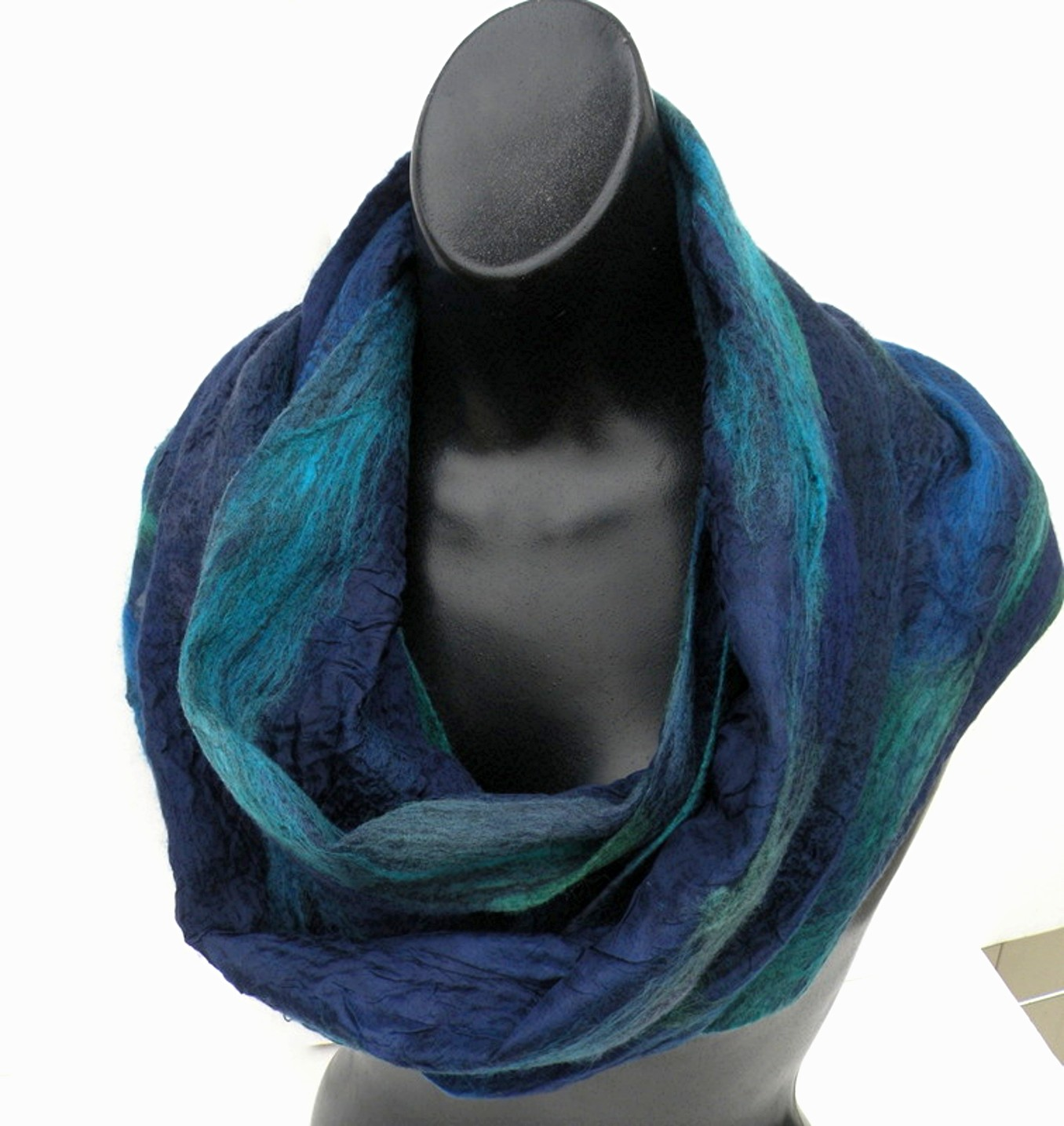 blues on blue paj silk