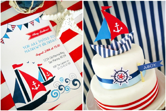 Birthday Party Ideas: A Preppy Nautical Maritime Inspired Party and Deserts Table