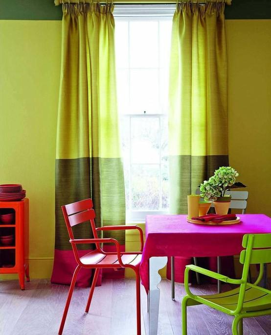 Color Blocking Living Room