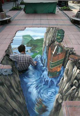 3d pavement art - 3d painting on the street - manfred