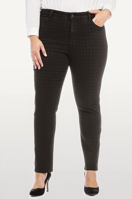 NYDJ Sheri Skinny Plus Size Jeans in Houndstooth