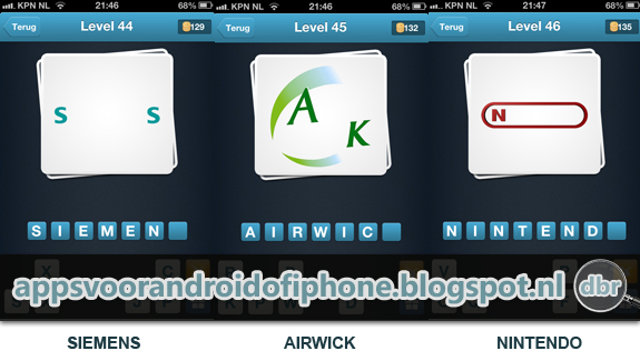Logo Quiz Nederlands cheats en antwoorden level  44 45 en 46