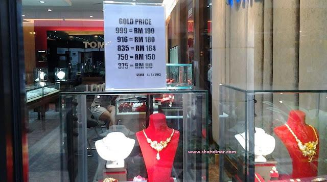 harga kedai emas