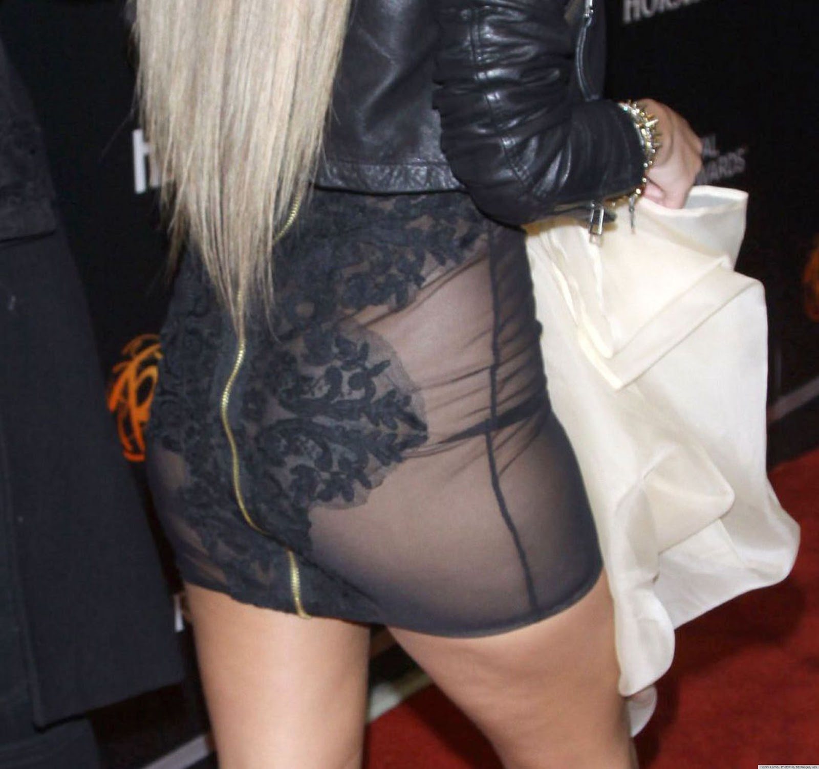 Adrienne Bailon See through Skirt