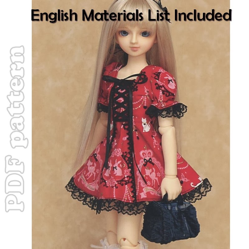 MSD Corset and Puffy Sleeves Lolita Dress BJD Sewing Pattern + ...