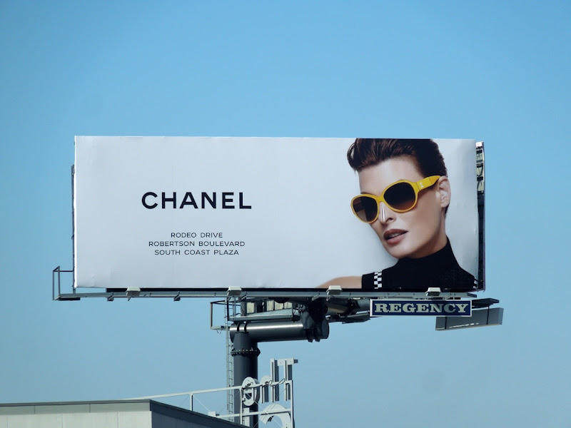 Chanel yellow sunglasses 2012 billboard