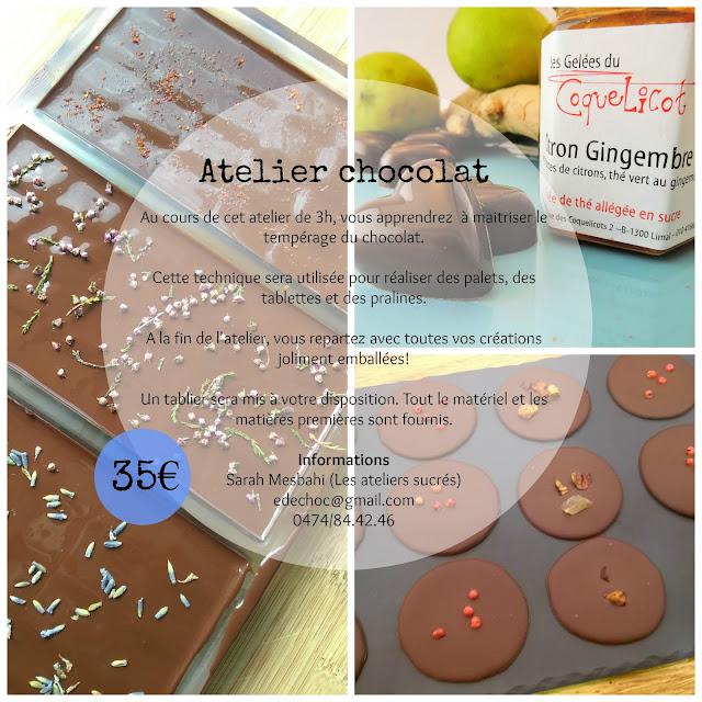 Atelier chocolat Brabant wallon