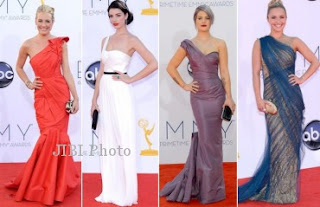 Gaun One Shoulder di emmy award 2012
