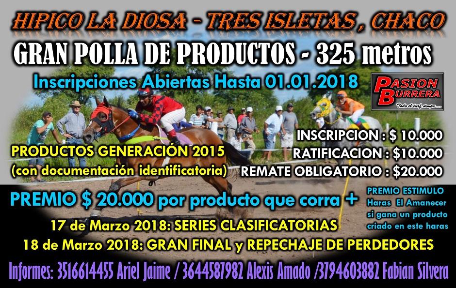 TRES ISLETAS - POLLA 2018
