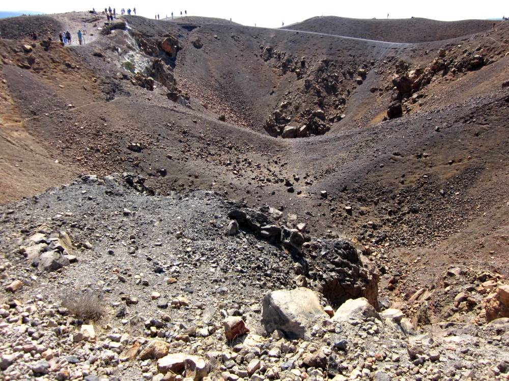 Crater of the Volcano in Santorini