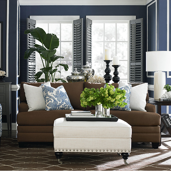 Coastal Shore Creations Navy And White Living Rooms