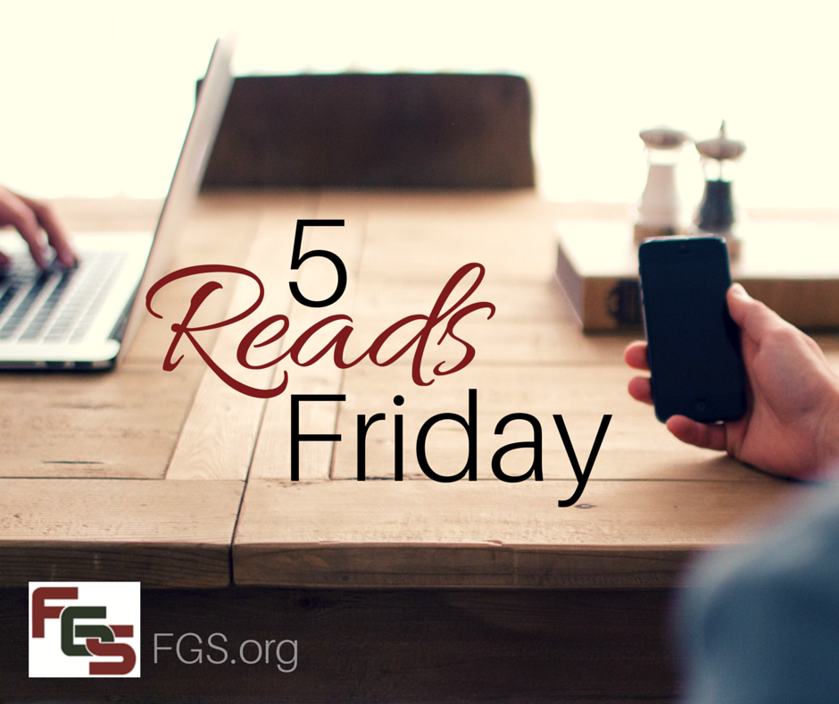 5 Reads Friday from FGS.org