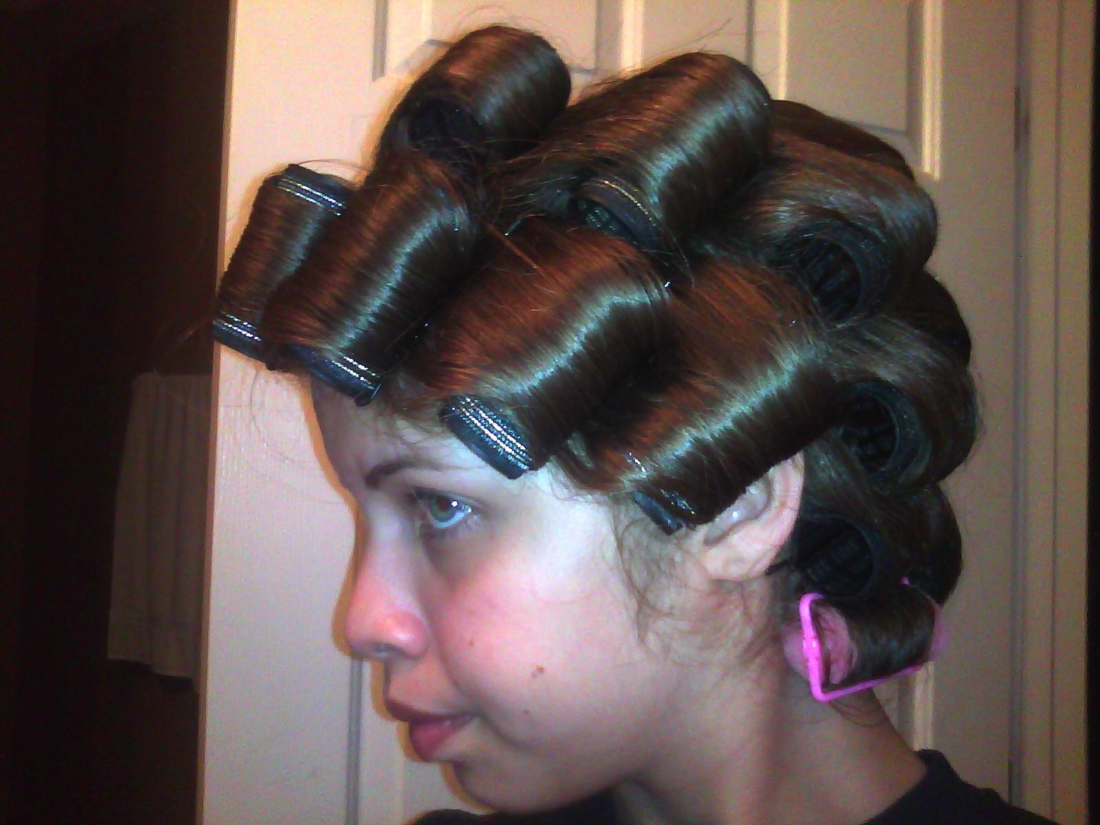 Roller Setting Boys Hair