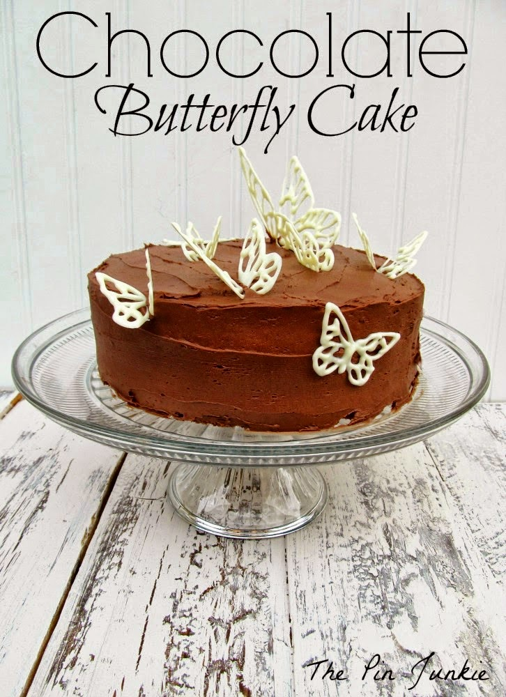 The Pin Junkie shared her Chocolate Butterfly Cake Featured at One More Time Events.com
