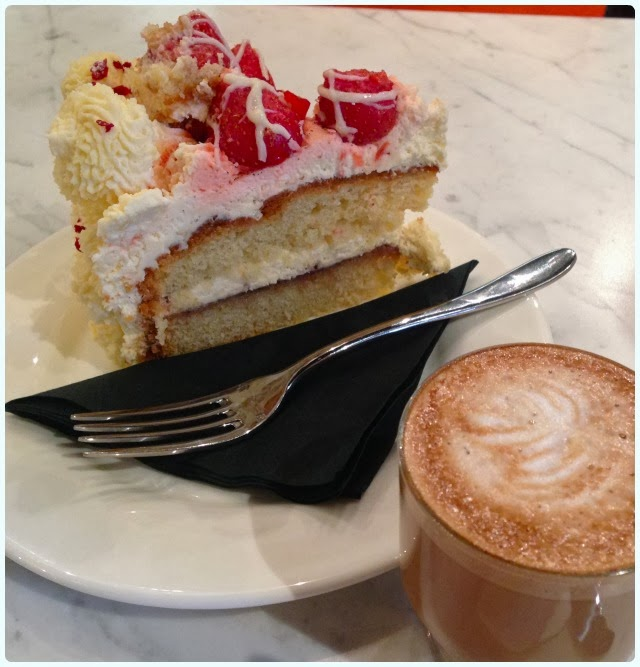 Rosylee Tea Room Manchester - Strawberry Layer Cake
