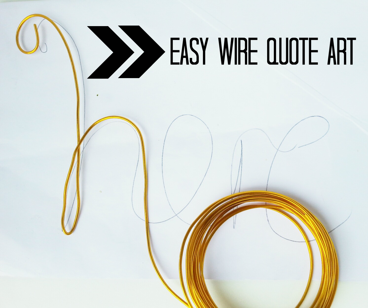 Easy diy wire quote art ~ Make Do and DIY