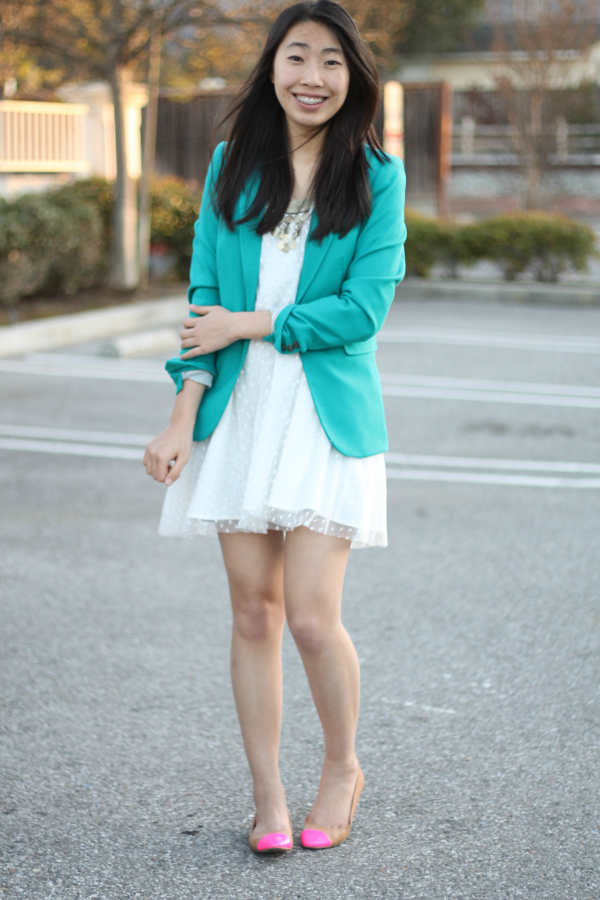white dress spring outfit