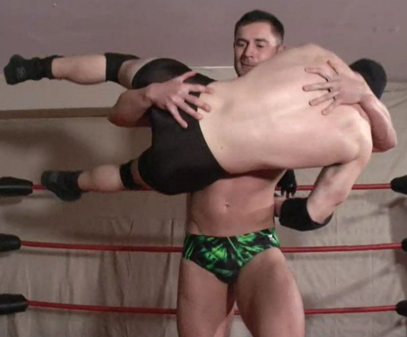 Two masked dudes get their hard tools sucked by doll face babe 6