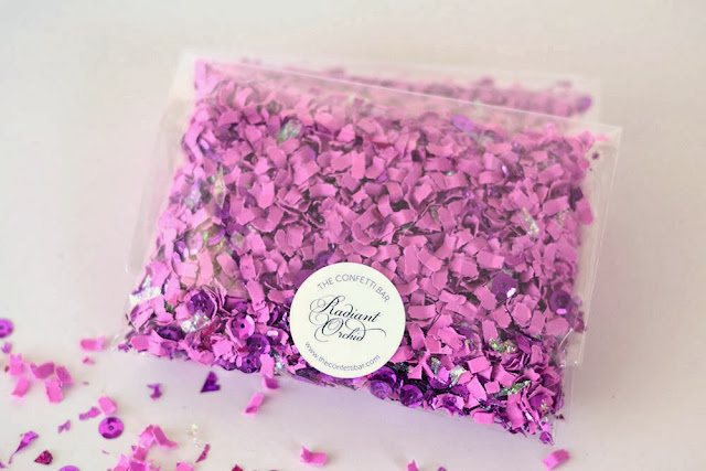 Pantone Color Of The Year Radiant Orchid confetti
