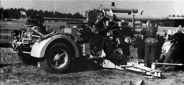How did Flak guns crews receive their orders in world war 2?