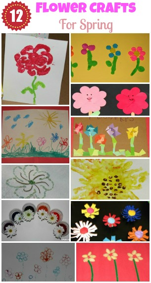 Kids Flower Spring Crafts